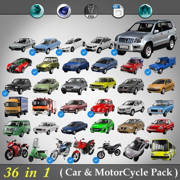 car pack 3D
