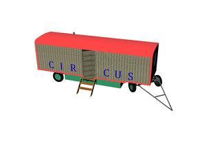 circus caravan 3D model