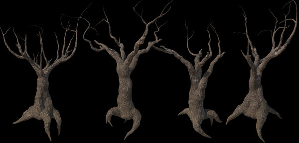 3D scary trees kit pbr