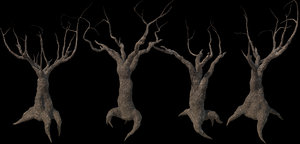 3D scary trees kit pbr