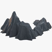 rock polygons 3D