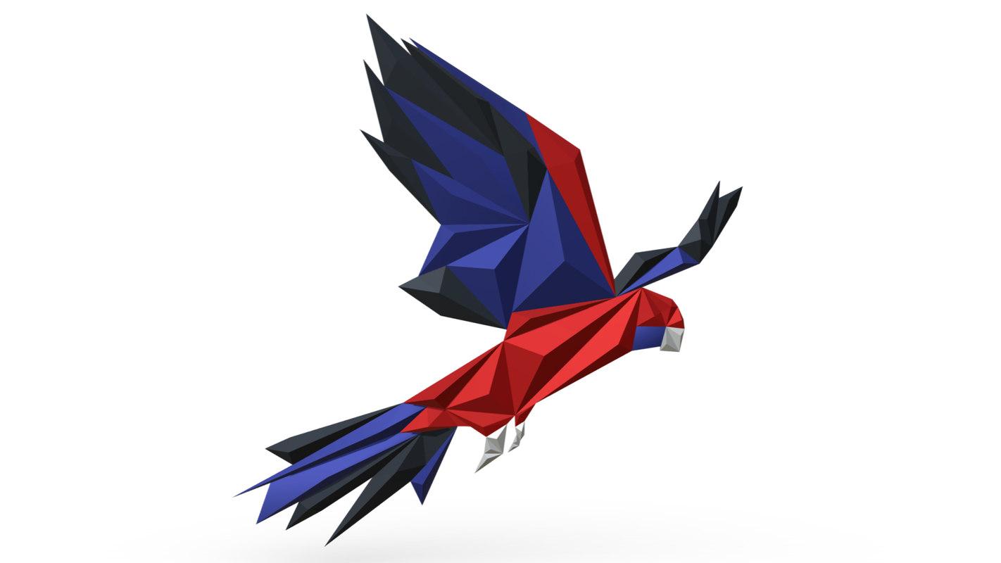 printed parrot figure 3 model