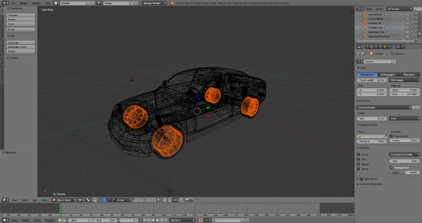 car shape keys 3D model