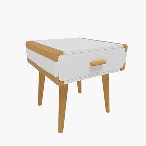 bedside table 09 3D