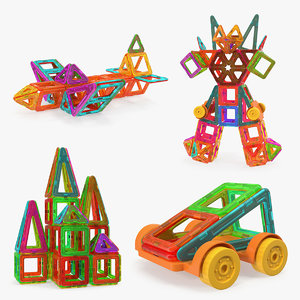 magnetic toys 3D model