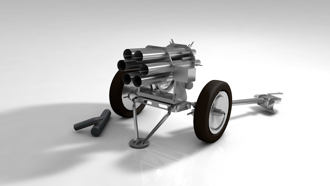 machine gun wheel war model