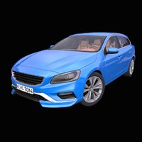 generic european station wagon 3D