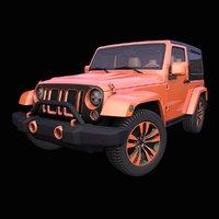 generic american suv interior car model