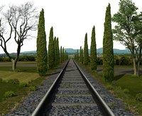 3D railway rail