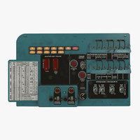 left circuit breaker console 3D model