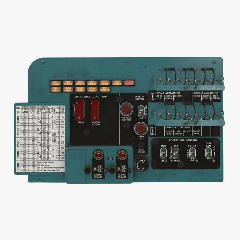 left circuit breaker console 3D model