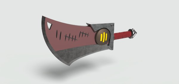 3D sword weapon
