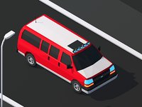 Cartoon Low Poly Van Vehicle