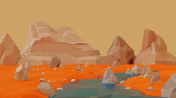 lowpolyrock stones mountains model