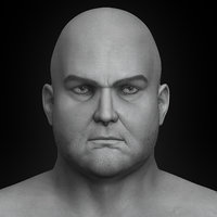 3D model realistic fat man modeled