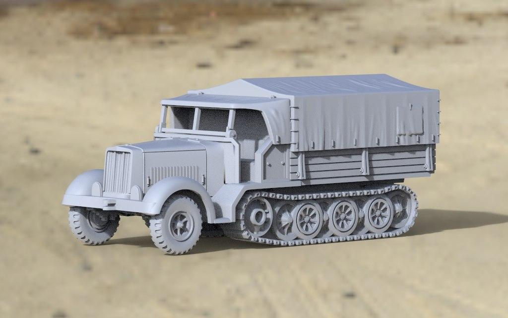 3D sd kfz 7 1 model
