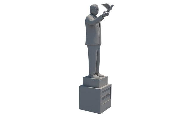 3D monument peace