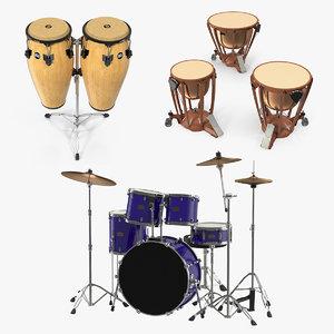 3D drums timpani kettle