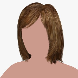 hairstyle 17 hair 3D model