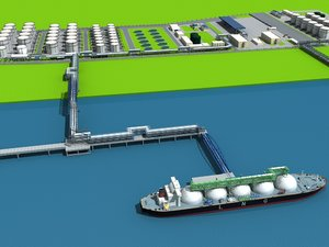 3D lng port ship