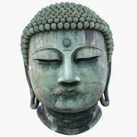 3D great buddha head statue model