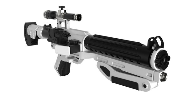 3D blaster star wars