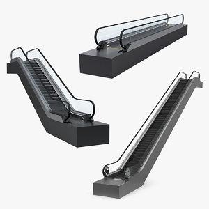 3D model escalator moving walkway 2