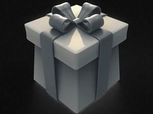 3D birthday gift box