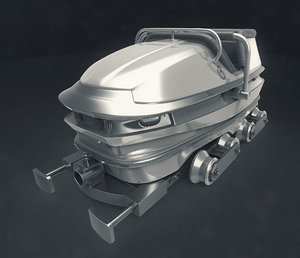 roller coaster cart train 3D model