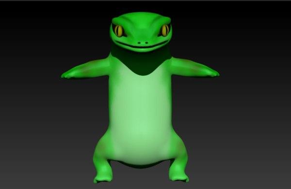 3D aligator character