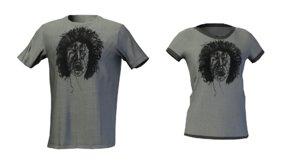 3D male female ready shirt model