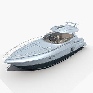 yacht 01 3D model