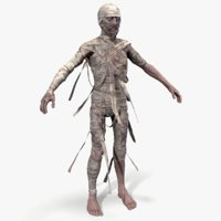 3D ready zombie mummy