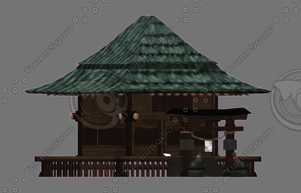 japanse fantasy shrine 3D