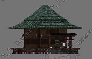 japanse fantasy shrine 3D