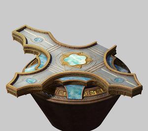 temple - central platform 3D model