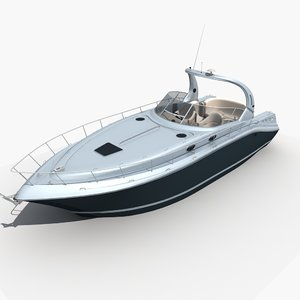 3D model yacht boat ship
