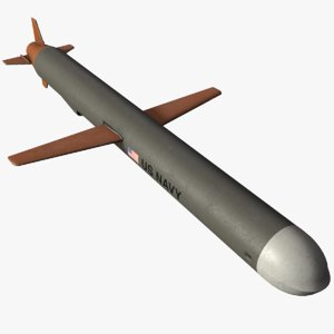 3D model ready tomahawk cruise missile