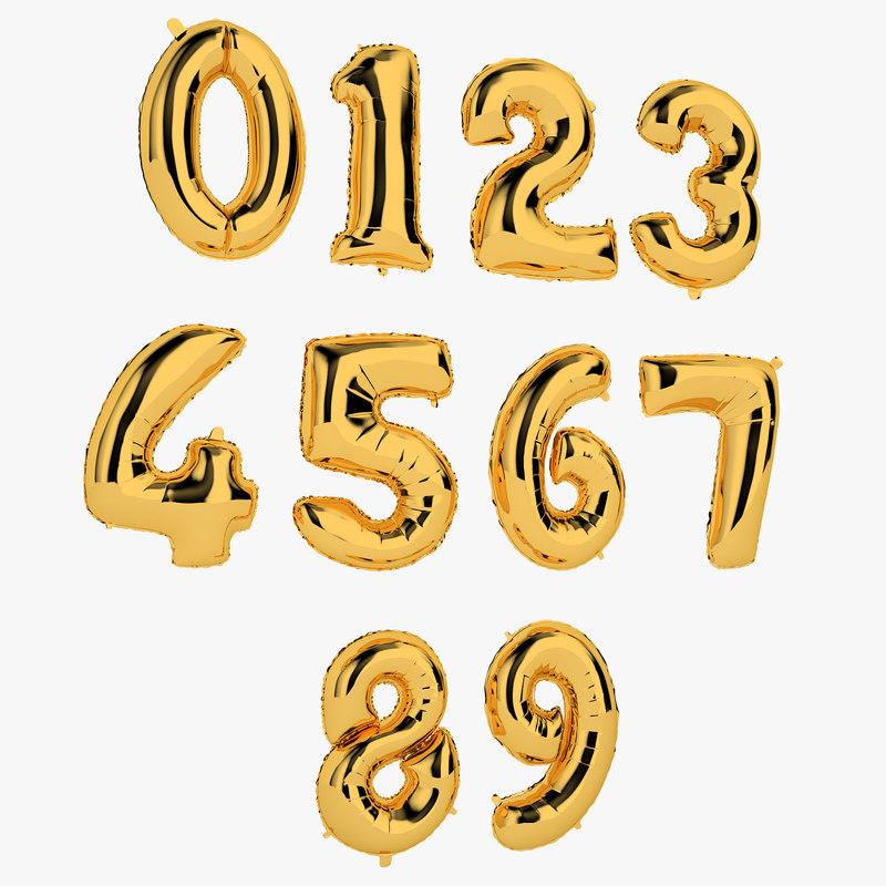 foil balloon number model
