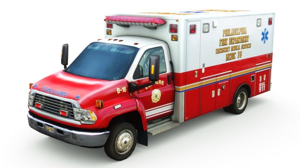 generic ambulance v10 3D model