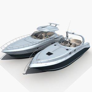 yacht boat ship 3D