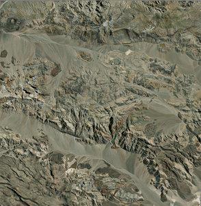 3D mesh dry mountain model