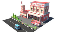 3D firestation01 model