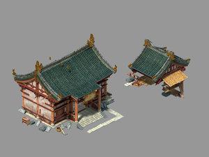 3D peach blossom island - model
