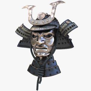 3D samurai helm