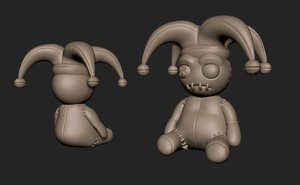 3D model character doll