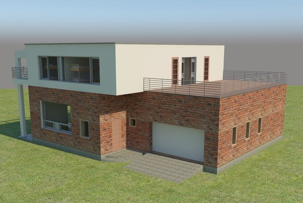 3D house revit v-ray