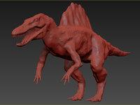 spinosaurus animation model