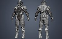 Battle suit Destroyer HIGHPOLY