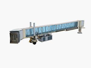 3D airport terminal jetway bridge model